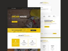 Construction Website Template - Free Resource
