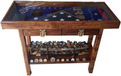 koa shadowbox table stand