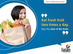 Eat fresh fruits 2 times a day.  #GunamSuperSpecialityHospital #healthtips #Healthcare #healthylifestyle.#healthforall #healthyindia