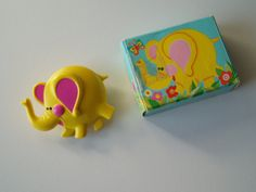 Vintage Avon Glace Elephant Perfume Pin 1973 brooch childrens costume jewelry fragrance broach