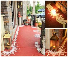 Browse thousands of latest Diwali Decoration Ideas & DIY for Home, Office and School. Here you can find trending decor ideas for Diwali this year. Indian Home Interior, Indian Interiors, Indian Home Decor, Diwali Decorations, Festival Decorations, Traditional Decor, Traditional House, Indian Inspired Decor, Ethnic Decor
