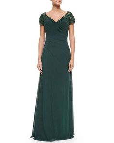 Audrey Bride Classic Mother of the Bride Dresses Long for Woman Plus Size-8-Dark Green