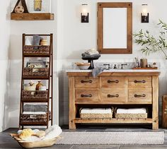 Benchwright Single Wide Sink Console #potterybarn