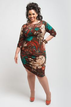 The print on this dress is striking.