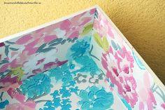 Tutorial para forrar cajones con papel pintado