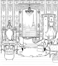 Megan Hess — The Jacky Winter Group: Drawing Room Megan Hess Illustration, Illustration Art, Arte Fashion, Coloring Book Pages, Line Art, Illustrators, Backdrops, Sketches, Black And White
