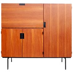 Pastoe CU01 'Japanese Series' Cabinet by Cees Braakman, Dutch Design 1950s | See more antique and modern Cabinets at https://www.1stdibs.com/furniture/storage-case-pieces/cabinets
