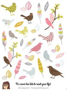 Graceful Birds of a Feather Icons - The REset Girl shop