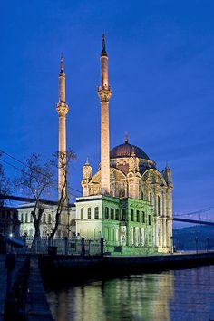 Ortaköy Mosque in Istanbul, Turkey....This is one of my favorite areas of Istanbul with all the excitement and life.  Love the outside markets in the area.