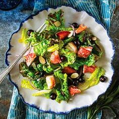 Blueberry lobster salad. This green salad recipe with berries is a delicious way to get your antioxidants.