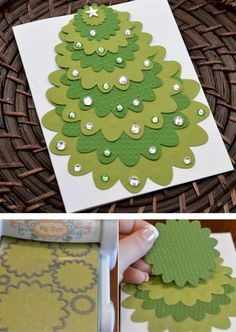DIY Christmas cards lend a personal air to your holiday greetings. Check out these DIY Christmas cards ideas & tutorials we've rounded up for you. Creative Christmas Cards, Homemade Christmas Cards, Christmas Cards To Make, Xmas Cards, Handmade Christmas, Christmas Fun, Cards For Friends, Kirigami, Paper Cards