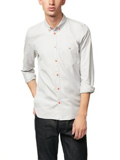 contrast button shirt / marc by marc jacobs