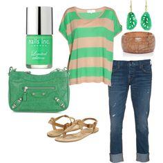 Feelin' green, created by mommaritt120 on Polyvore