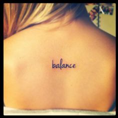 "My ""balance"" tattoo."