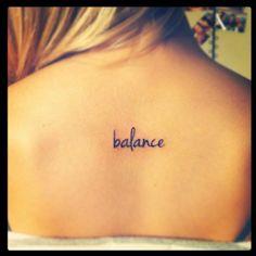 "My ""balance"" tattoo."