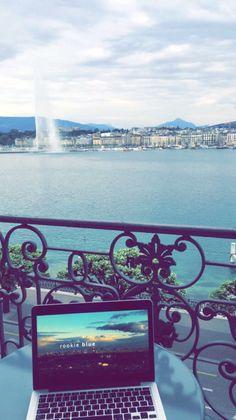"laatifa:  "" Perfect balcony view. 💕 #Geneva  """