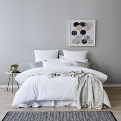 Tribeca Waffle Bedlinen from Adairs. Bedding inspiration - Similar cover can be bought from Bed Bath & Table.