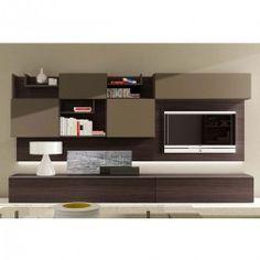 meuble tv design taupe neva atylia - meuble tv design wengé ... - Meuble Tv Design Wenge
