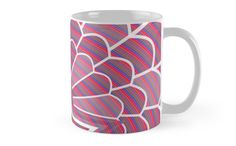 A colorful mug with an unique design perfect for a cup of hot Coffee Lovers, Hot Coffee, Cool Items, Beautiful Things, Feather, Colorful, Ceramics, Group, Mugs