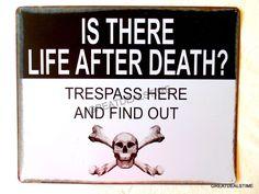 Wall Signs Poster Art, Prints, Paintings & Wall Art for Sale Tin Signs, Metal Signs, Wall Signs, Life After Death, Man Cave Signs, Warning Signs, Funny Signs, Wall Art, Prints