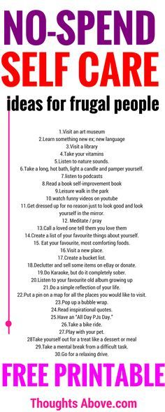 what an awesome list of self-care list. So simple and unique, no-spend money at all. I'm definitely downloading these list of self-care ideas.
