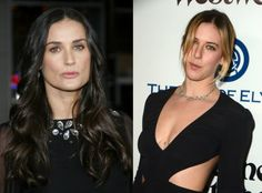 Demi Moore and Scout Willis