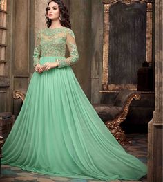 Rakhi Sale online, get this designer gown on biggest discounts. Size : Free Size | Stitched Type : Semi-stitched #rakhisale #onlineshopping #rakhisaleonline