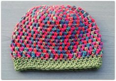 Handmade Chunky Toddler Slightly Slouchy Hat; Acrylic; Soft and Warm; FREE UK Shipping