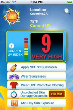 EcoSport App, get the UV Index and more on your iPhone