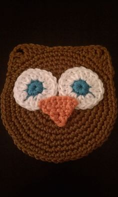 Crochet Owl Washcloth