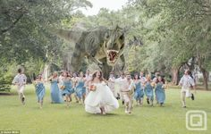 Dinosaurs love to ruin weddings..