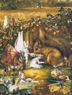 "The Wounded Squirrel"" John Anster Fitzgerald"