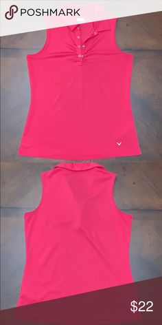 cefcbc7c72e22 Callaway Ladies Golf Sleeveless Polo Sweat wicking material with snap  buttons. Eeeeuuuuuucccccc. Gently used