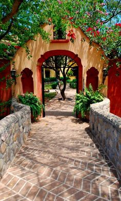 Hacienda de los Santos is a resort and spa in Alamos, Mexico Hacienda Style Homes, Spanish Style Homes, Spanish House, Spanish Colonial, Hacienda Kitchen, Mexican Hacienda, Mexican Style, Beautiful Homes, Beautiful Places