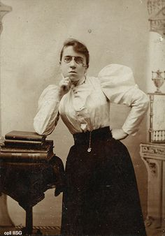 "Emma Goldman (June 27 ] 1869 – May 14, 1940) was an anarchist known for her political activism, writing and speeches. In 1897, she wrote: ""I demand the independence of woman, her right to support herself; to live for herself; to love whomever she pleases, or as many as she pleases. I demand freedom for both sexes, freedom of action, freedom in love and freedom in motherhood."""