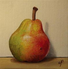 """""""Small Blush pear"""" - Original Fine Art for Sale - © Jane Palmer"""
