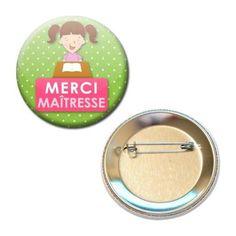 MERCI-MAITRESSE-CADEAU-ECOLE-VACANCE-56MM-BADGE-PINBACK-BUTTON #cadeau #maitresse #vacance #idee #badge #ecole