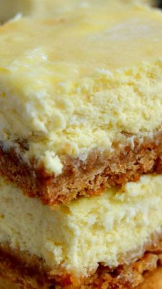 Perfect Cheesecake Bars ~ Rich, creamy, thick and delicious... SO simple to whip together and taste AMAZING!