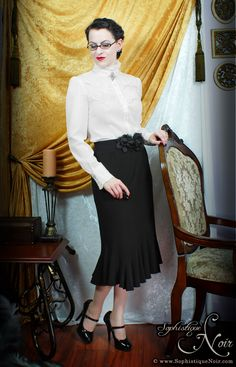 Victorian Corporate Goth Outfit