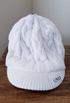 a0c071ef767 NWT Adidas Women s White Crystal Brimmer Fleece Lined Beanie Hat  fashion   clothing