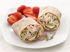 Ham, Swiss and Apple Wraps from #FNMag #protein #grains #fruit #dairy