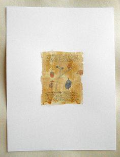 Crayon et aquarelle sur un sachet de thé par missouribendstudio