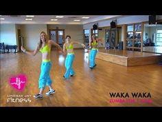 ZUMBA FOR '1 GOAL'- SHAKIRA'S WAKA WAKA - YouTube  quite similar to Helens, easy to follow