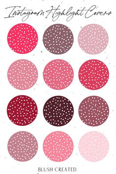 Up your Instagram aesthetic with these pink polka dot Instagram highlight cover icons. These are perfect for bloggers or anyone wanting to help brand their Instagram. | Blush Created