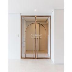 Interior Concept, Cafe Interior, Shop Front Design, House Design, Mison, Restaurant Facade, Cafe Signage, Main Entrance Door Design, Golden Decor