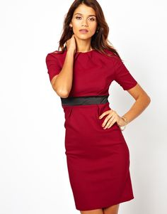 Vesper Pencil Dress With Satin Waist