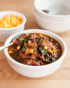 Recipe: Easy Turkey Chili with Kale Weeknight Dinner Recipes from The Kitchn | The Kitchn