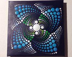 Originele kleine Pastel Mandala schilderij op door CreateAndCherish