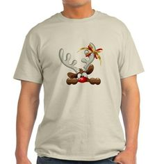 0e97edf43f557 Funny Christmas Reindeer Cartoon T-Shirt Best Ugly Christmas Sweater