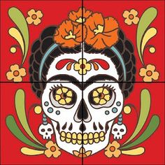 acrylic painting of Calavera Catrina' - Google Search